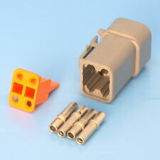 Deutsch DTP Series 4 Way Plug Connector Kit DTP06-4S C/W Pins & Wedglock DTP064S