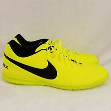 New Nike Tiempo Rio III Indoor Soccer Cleats Mens Sz 10 Volt Black 819234 707