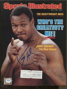 Larry Holmes Signed 1985 Sports Illustrated 7/1 Autographed Boxing Champ PSA/DNA