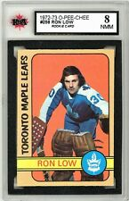 1972-73 O-Pee-Chee #258 Ron Low RC Graded!!! BV $80 (90697283)