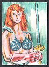 RED SONJA (BREYGENT 2011) SKETCH ART CARD (ARTIST PROOF) by JEFF ZAPATA