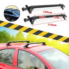 Universal 43.3'' Aluminum Car Roof Cross Bar Luggage Rack Adjustable With Lock