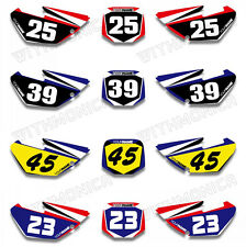 For Yamaha YZ85 2008 2009 10 11 12 13 14 Custom Backgrounds Number Plate Decals