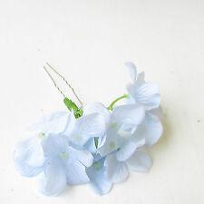 Grande lumière bleu pâle hydrangea fleur épingle à cheveux demoiselle d'honneur fleurs 1989