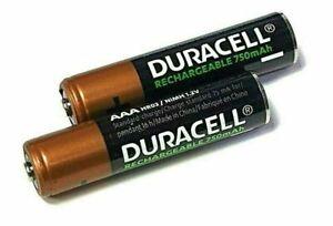2x Duracell AAA 750 mAh NiMH Wiederaufladbare Akkus für Siemens Gigaset Telefone