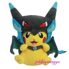 New Pokemon Pikachu With X Charizard hat Plush Soft Toy Stuffed Animal Doll 9''