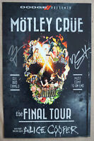 Vince Neil and Nikki Sixx of Motley Crue Autographed Poster Hand-Signed 11x17