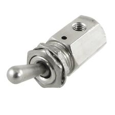 TV-3S 2 Position 2 Way Air Pneumatic Knob Control ON OFF Toggle Valve Silver DT