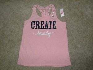 JUSTICE Create Beauty Sparkle Sleeveless Top Size 14/16~ NEW!