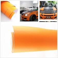 "Car SUV Interior Accessorie Panel 15""x 39"" Orange Carbon Fiber Vinyl Wrap Sticke"