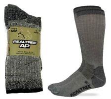 4 Pair REALTREE' 80% Merino Wool  Hiker Socks Large