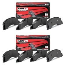 HAWK 2003-2009 HUMMER H2 AND H2 SUT SUPER DUTY SD FRONT AND REAR BRAKE PADS SET