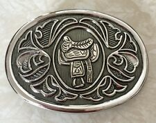 AVON COLLECTABLES WESTERN STYLE UNISEX METAL BELT BUCKLE VINTAGE 3-D DESIGN