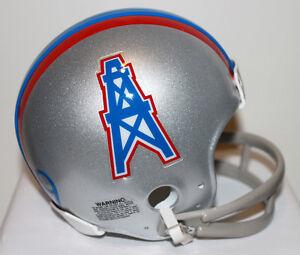 Kenny Houston Oilers Riddell Custom Mini Helmet w/ 2 Bar Facemask