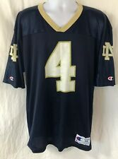 Vintage Champion Notre Dame Football Jersey #4 Mens Size 44 Large Made In Usa