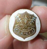 Old Rare Pin Medal P.S.R.  A  C.K.J.  Designed by C. Biczak Passaic NJ