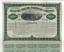 1880 $500 Atlantic & Pacific Railroad Company Western Division Bond
