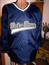 NEW WITH TAGS All Sport NOTRE DAME Navy Blue LINED Pullover V-neck Jacket/Size L