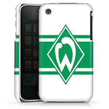 Apple iPhone 3Gs Premium Case Cover - Werder Stripes white