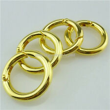 13750 4PCS Round Ring Gold Clasp for Jewelry Making Findings 17mm Opening Clasp
