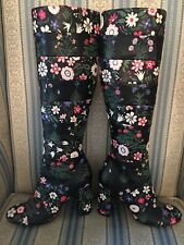 $3500 Valentino Garavani Floral Garden Painted Leather Knee High Boots Size 35