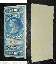 1876  Queen Victoria  CANADA  Law Stamp $5 (SCARCE)