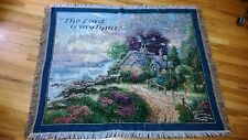 THOMAS KINKADE throw blanket PSALM 27 1 THE LORD IS MY LIGHT