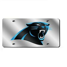 Carolina Panthers Mirrored Laser Cut License Plate Laser Tag