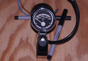 BMW R69 VDO Oil Temperature Gauge 6V Replaces Clock Tach Temp Tachometer Harley