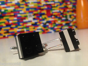 Pair Handmade MonkiStuff Cufflinks, Black & White made using LEGO® Bricks