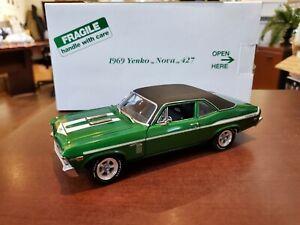 Rare 1969 Yenko Chevy Nova 427 Green 1/24 Danbury Mint Diecast NIB