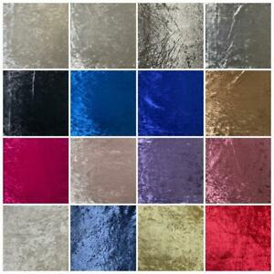Premium Crushed Velvet Upholstery Fabric Material Curtains Cushions Sofa Throws