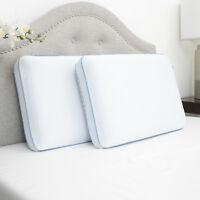 Sweet Home Collection Reversible Cool Gel Memory Foam Bed Pillow - 1 or 2 Pack