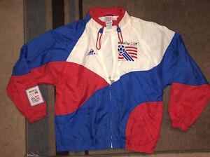 Rare Vintage Team USA USMNT Apex 94 World Cup Soccer Jacket 90s 1991 RWB Size L