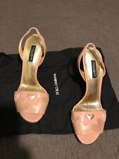 Very cute New Dolce Gabbana light pink Sandals  Size 6.5. With Box. Retail $480