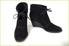 Bottines Boots ANN TUIL Talon Compensé Daim Noir T 39 TBE