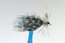 1 x Mouche Sèche LOEBERG PINTADE BLEU  H10/12 mosca fly fliegen truite peche