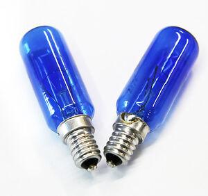 2x FRIDGE BLUE LAMP LIGHT BULB GLOBE 40W E14 SES 1443629 FITS MANY WESTINGHOUSES