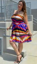 Polyester/Elastane Machine Washable Plus Size Dresses for Women