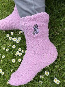 Cockapoo Slipper Socks Ladies Socks Embroidered Socks Cockapoo Gift Idea