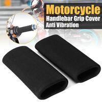 2x Motorbike Motorcycle Slip-on Foam Anti Vibration Comfort Handlebar Grip Cover