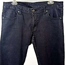 MNG Jeans Size 14 Mango Black Faux Snakeskin Lightweight 5 Pocket Ltd Edition