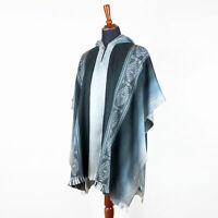 Lightweight Baby Alpaca Wool Cape Poncho Pullover Coat Handmade in South America