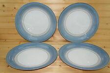 """Denby Castile Blue (4) Dinner Plates, 10 7/8"""""""