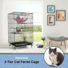 New listing 3-Tier Kitten Cat Ferret Cage Portable Ct Home Indoor Fold Pet Cat Cage Playpen