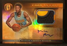 Malik Beasley 2016-17 GOLD STANDARD GOOD AS GOLD RC PATCH AUTO SP 09/25! NUGGETS