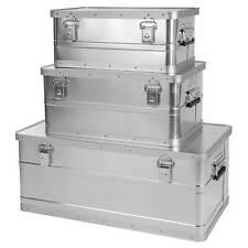 ONVAYA Alubox 3er Set stapelbar | Alukisten mit Deckel | Transportkiste