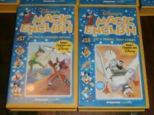 Walt DISNEY - MAGIC ENGLISH 1/18 - LOTTO 18 VHS De Agostini