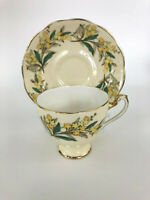 Mid-Century Modern Roslyn fine bone china cup & saucer REMEMBER ME c.1955+ R244