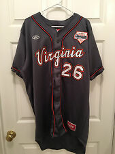Virginia UVA Cavaliers Baseball Coach Brian O'Connor Game Used CWS Patch Jersey